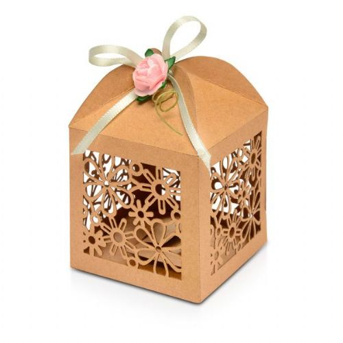 Flower laser favour box